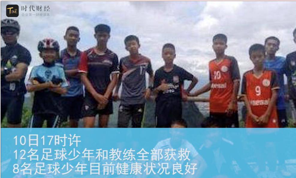 人类救援史奇迹:泰国被困少年足球队全部获救
